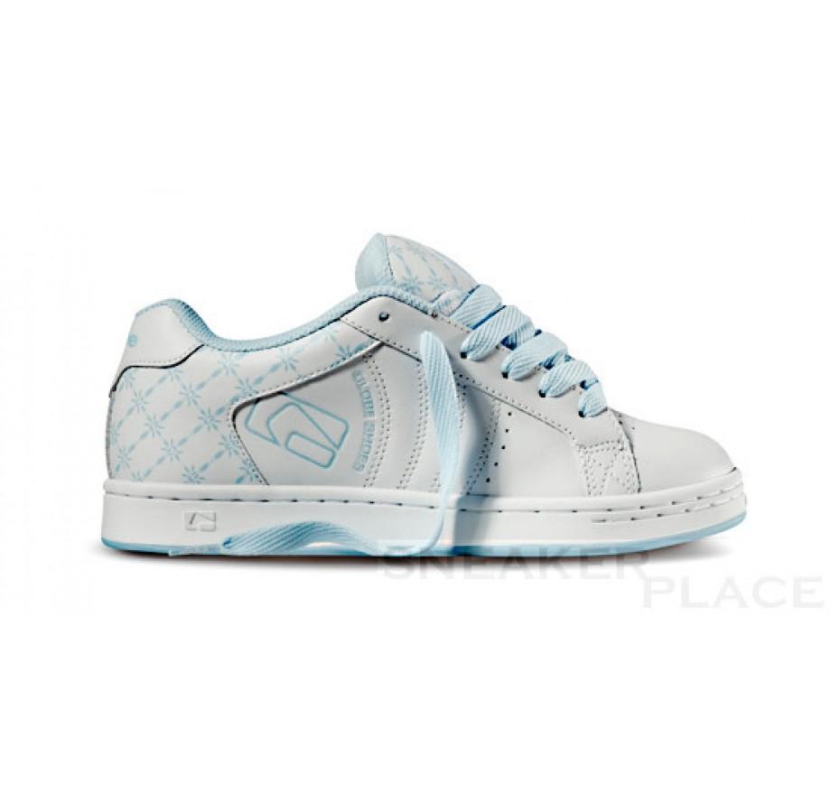 Globe Focus girls shoes white/sky blue