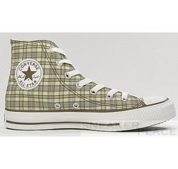 Converse Chucks All-Stars Hi Specialty plaid tan shoes