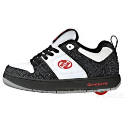 Heelys Typhoon black/white/red - shoes with wheels