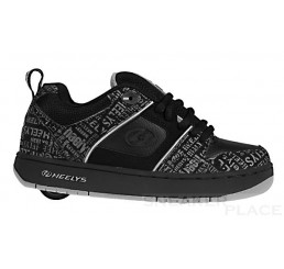Heelys Typhoon - shoes with wheels black/charcoal