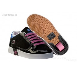 Heelys Street Lo shoes with wheels black/pink
