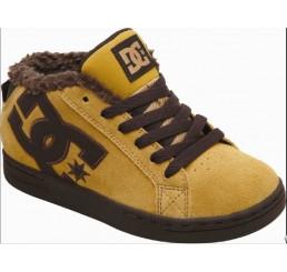 DC Court Graffik Mid kids shoes camel/dk choc