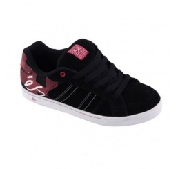 es Clayton skater shoes black/red/white