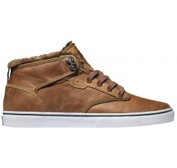 Globe Motley Mid skate shoes Leather brown