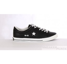 Converse One Star  Ox Lea leather black/white shoes