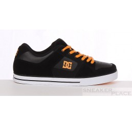 DC Pure Slim skate shoes black/orange