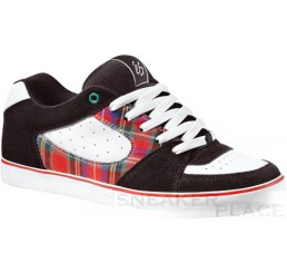 es Square One sktater shoes black/white/red