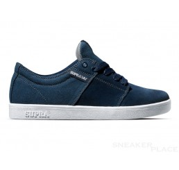 Supra Stacks Navy Suede Canvas shoes